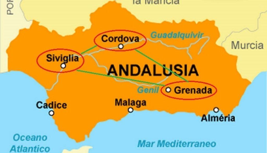 Cartina Dell Andalusia Spagna.Un Viaggio In Andalusia Alla Scoperta Di Arte E Cultura