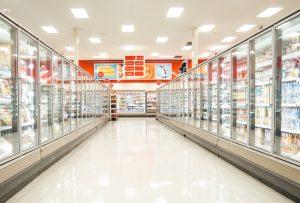 led per illuminare un supermercato
