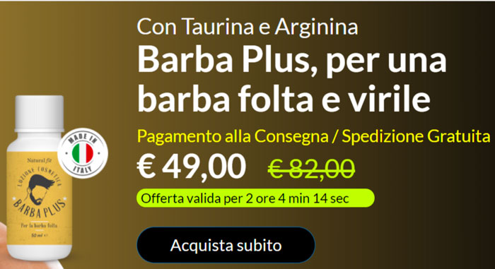 Barba Plus prezzo