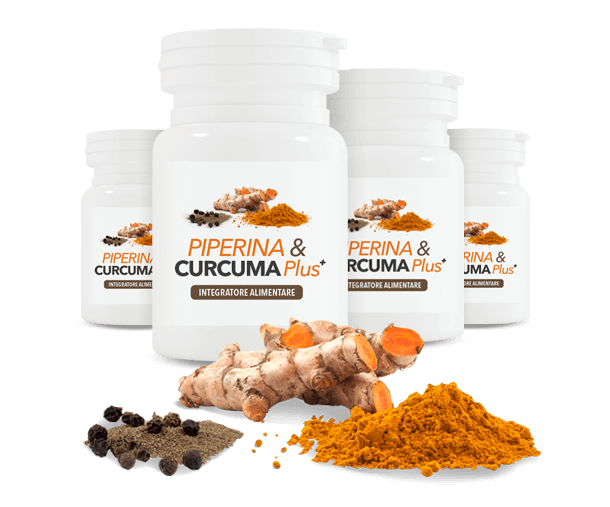 Piperina e Curcuma Plus 4X1
