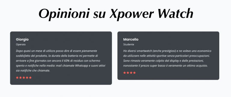 Commenti xPower Watch