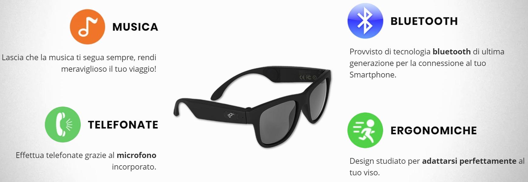 Recensione Smart Glasses