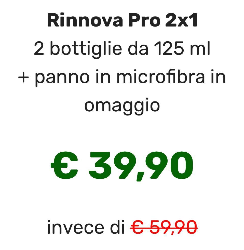 Quanto costa e dove comprare Rinnova Pro 2x1